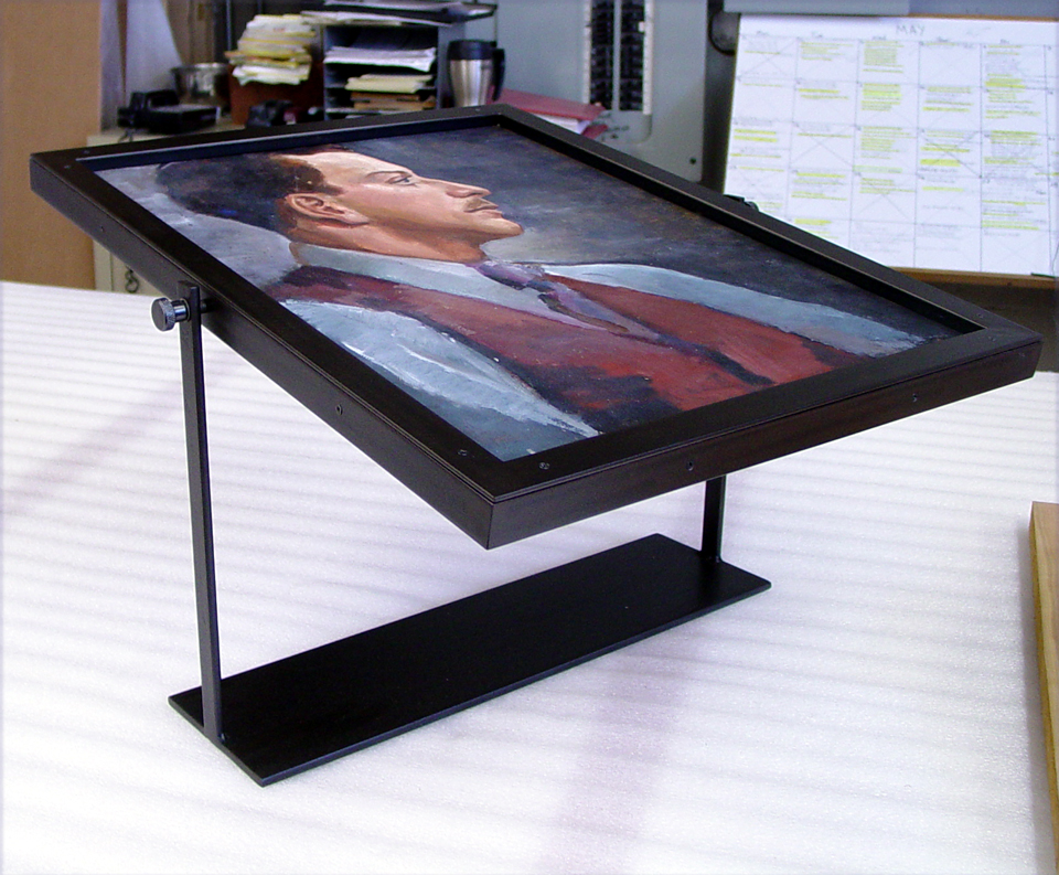 special stands created for display many shops create double sided frames