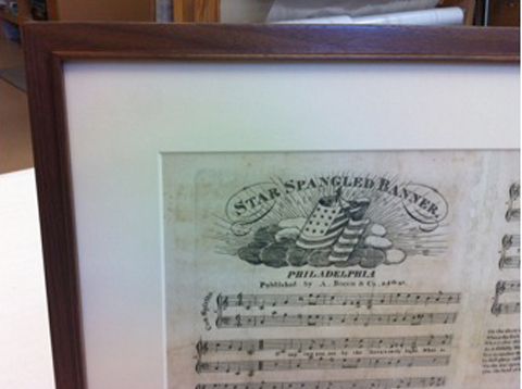 Star Spangled Banner Framing