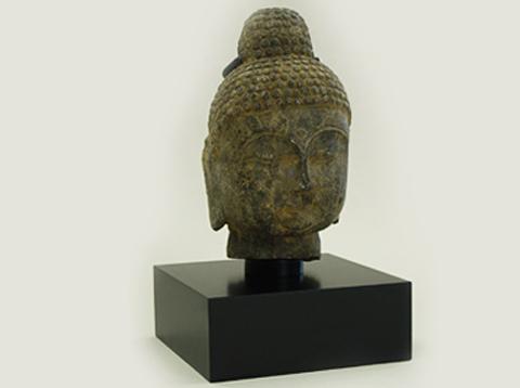 Stone Buddah Head